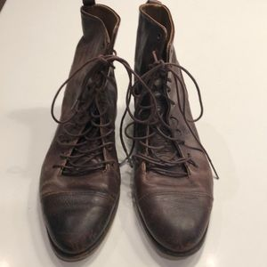 Zara size 6 Brown Distressed Boots